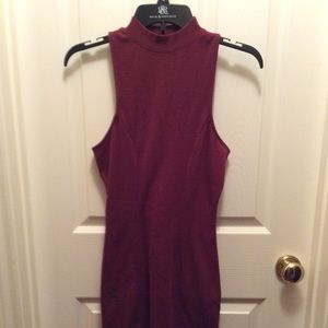 Wine colored Razorback dress